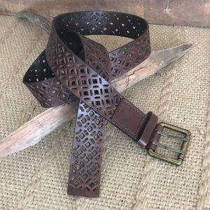 Accessories - Brown Leather Belt Size Medium/Large
